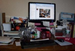 Kim's desk...where the alchemy happens!